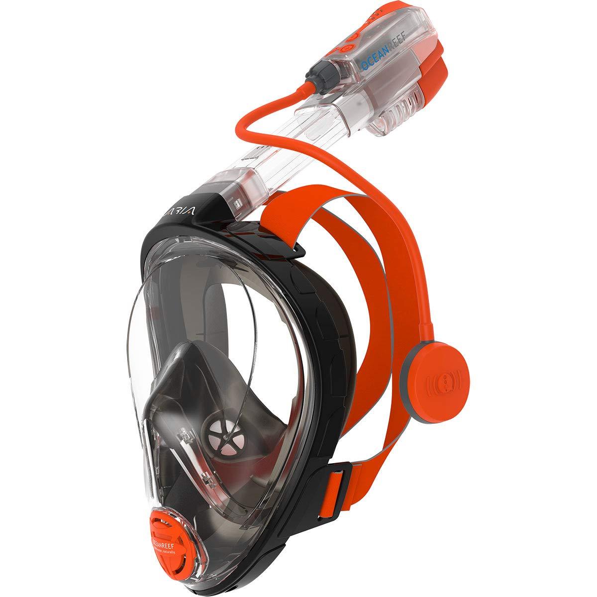 Ocean Reef Snorkie Talkie Aria Mask System w/Camera Mount (Pink, Small/Medium)