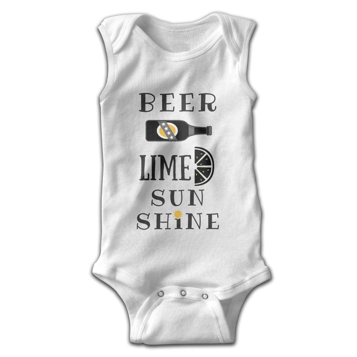 Efbj Toddler Baby Girls Rompers Sleeveless Cotton Jumpsuit,Beer Lime and Sunshine Outfit Spring Pajamas