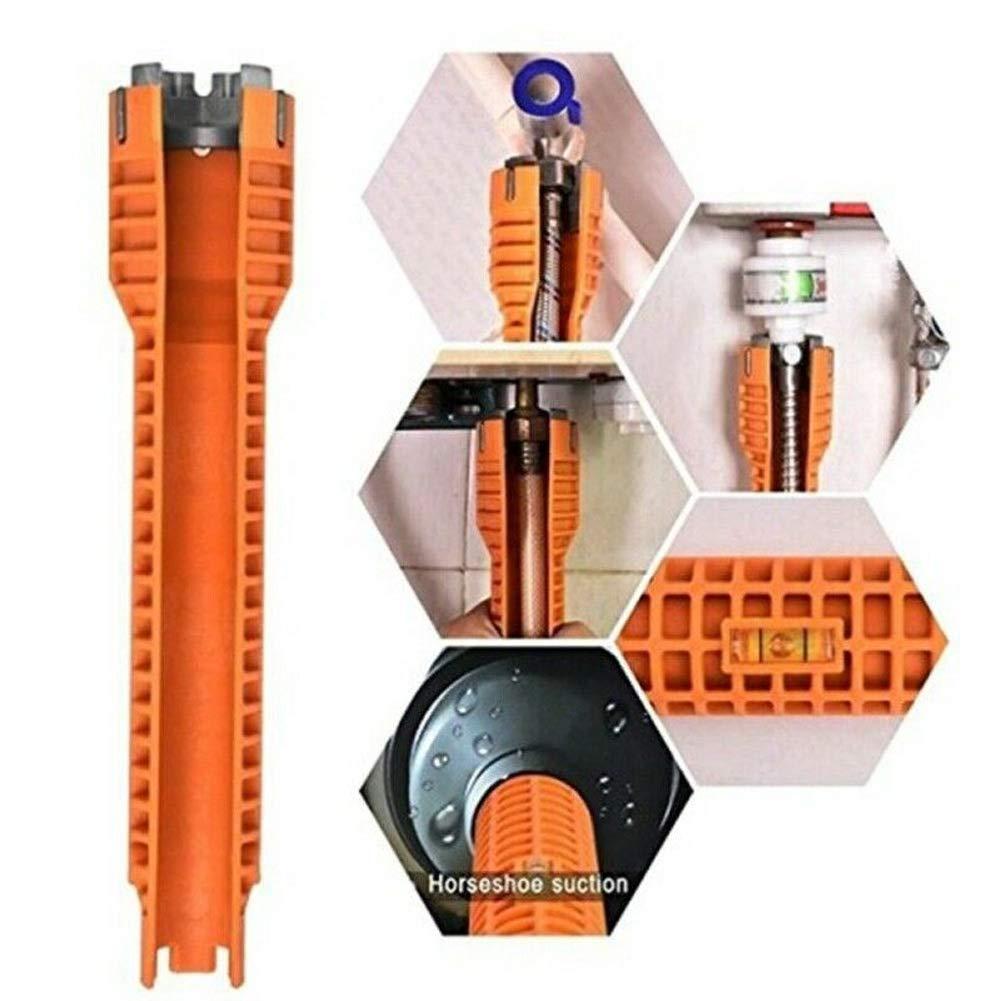 Herewegoo Faucet Sink Installer Water Pipe Wrench Tool for Plumbers Homeowners