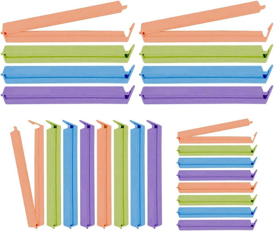 3 Colori. Alimentari Tenuta Clip Speyang Clip per Sacchetti per Alimenti 24 Pezzi Clip di Tenuta Plastica Clip Sacchetti Cucina 3 Misure Clip per Chiudere Sacchetti