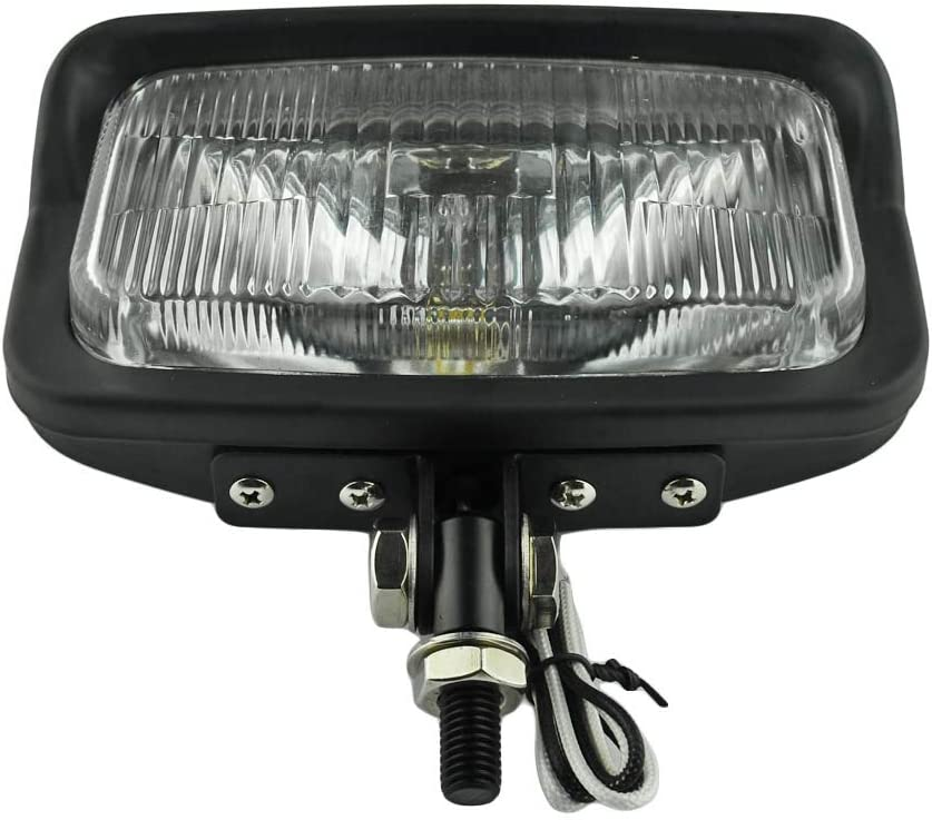 6.5 x 3.5 Square Rectangle Black Headlight Motorcycle Lamp for Harley springers Custom