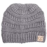 ScarvesMe Exclusive CC Knitted Children Knit Beanie (Light Melange Grey)