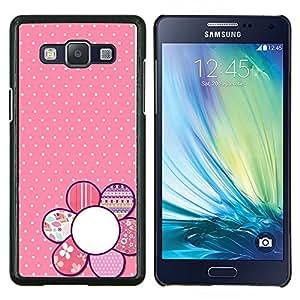 Dragon Case - FOR Samsung Galaxy A5 A5000 A5009 - pink floral pattern polka dot petal white - Caja protectora de pl??stico duro de la cubierta Dise?¡Ào Slim Fit