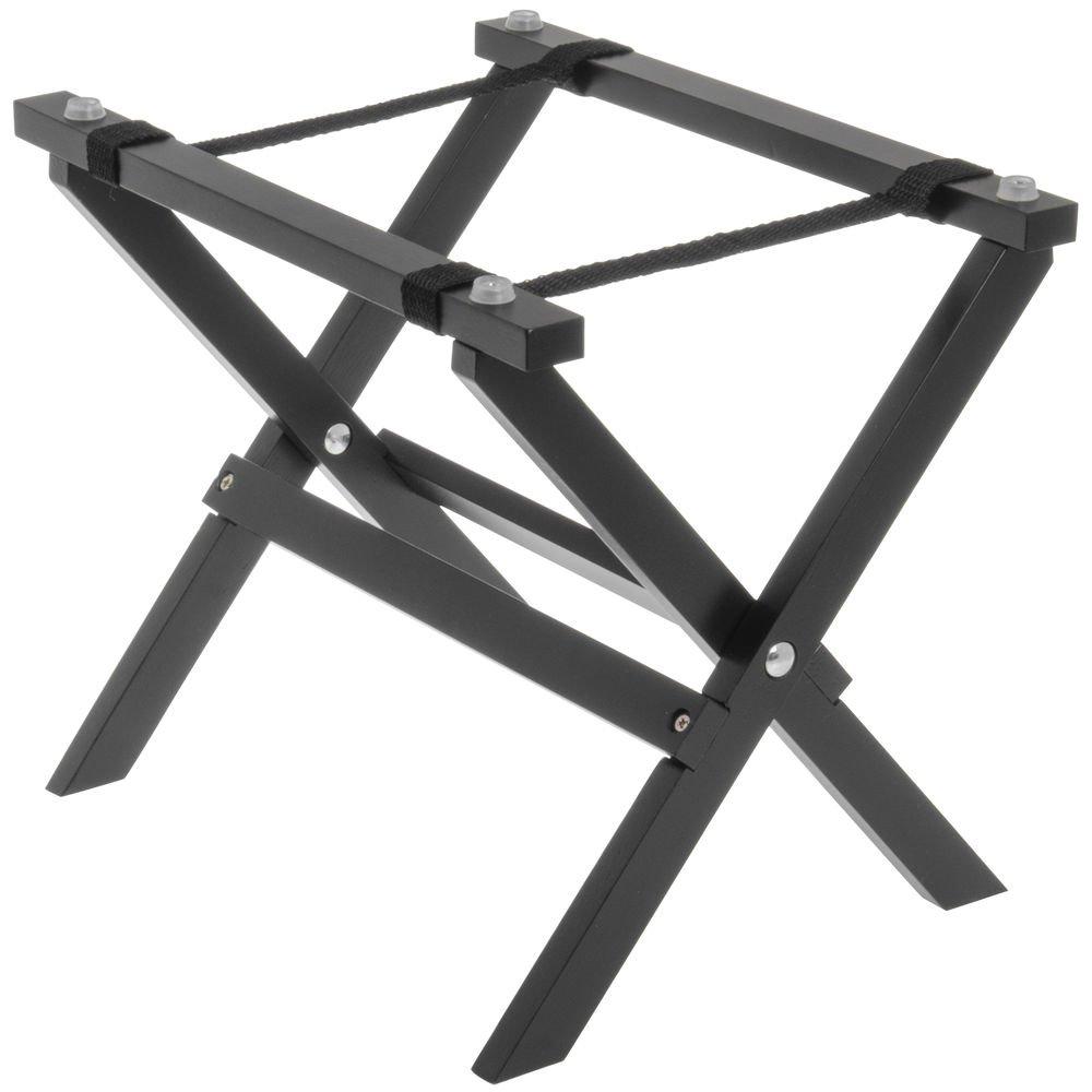 Tablecraft Black Wood Mini Tray Stand - 9 1/2'' L x 8'' W x 9 1/4'' H