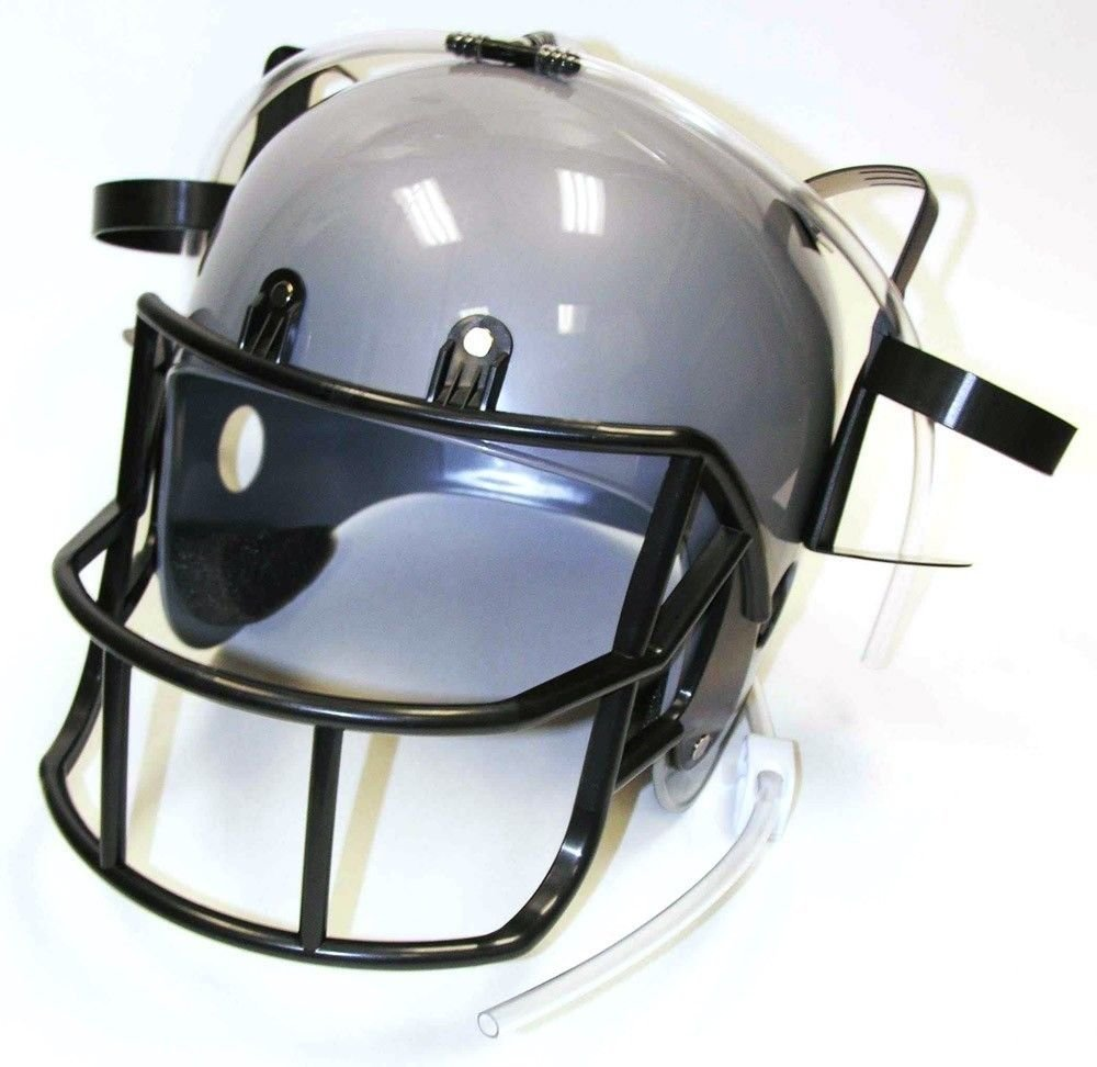 Football Drinking Helmet - Silver Novelty Item