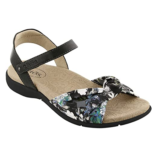 Taos Women's Knotty Black Floral Multi Sandal 6 B (M) US