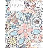 Pink Blue & Beige Whimsical Design Large 8.5 x 11 2015 Monthly Planner