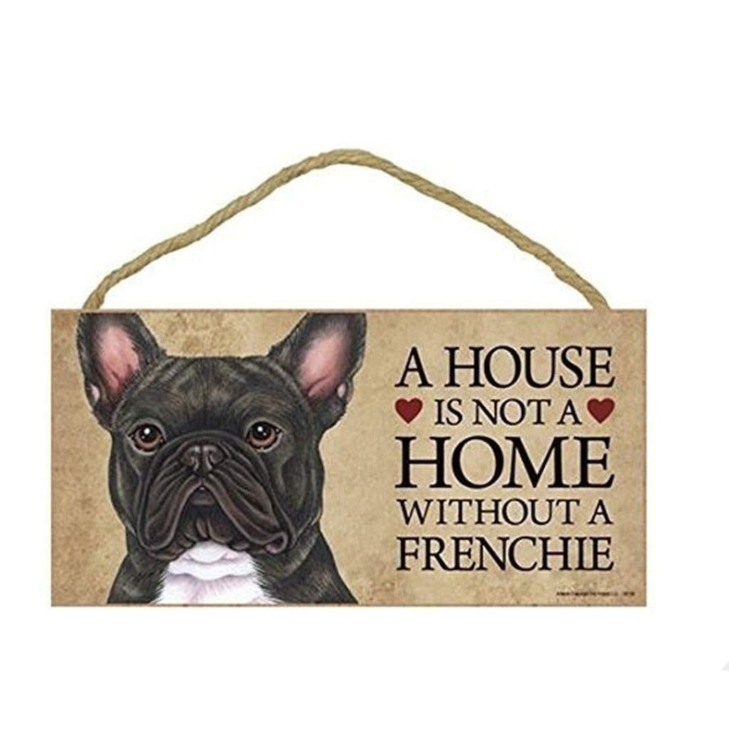 Houshelp Dog Cat House Decor Hanging Sign Wall Art Decorative Wood Sign Plaque Hanging Sign Board with Cute Printing