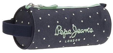 Pepe Jeans Denim Dots Neceser de Viaje, 23 cm, 1.86 litros, Azul