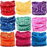 KALILY 12PCS/9PCS/6PCS Headband Bandana - Versatile Sports Headwear –Multifunctional Seamless Neck Gaiter, Headwrap, Balaclava, Helmet Liner, Face Mask for Camping, Running, Cycling (9PCS- A Set)