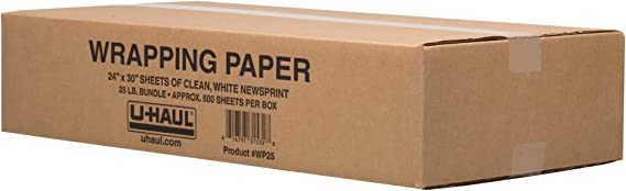 20 W x 30 L White 25 lb Pack of 600 Ship Now Supply SNNP203025MS Newsprint Packing Paper Sheets for Moving