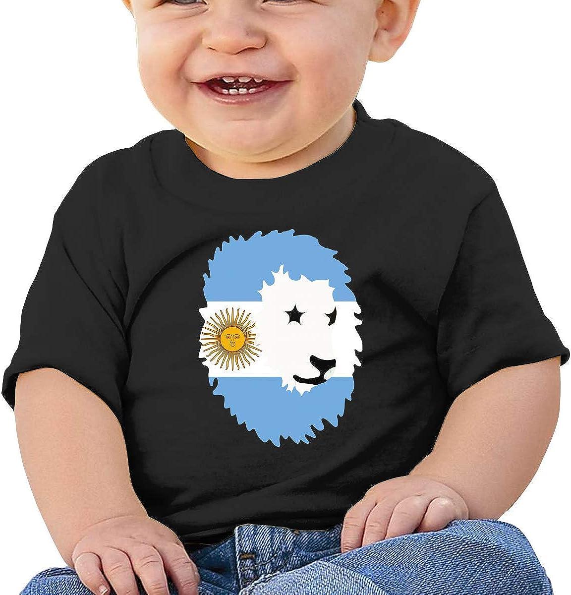 SDHEIJKY Lion Argentina Flag Summer Baby Boy T-Shirt
