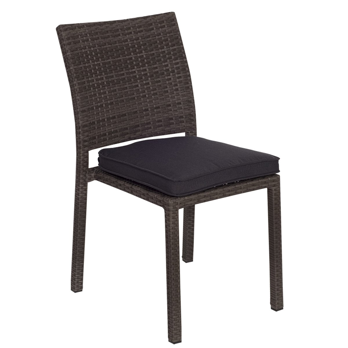 Atlantic 4-Pack Liberty Dining Stackable Chairs, Grey with Grey Cushions