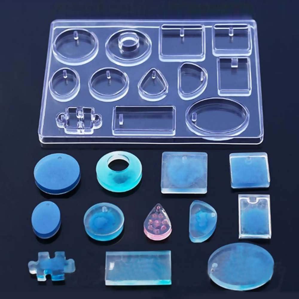 DoreenBow 1set Moule Silicone Bijoux en R/ésine Forme Sir/ène pour DIY Artisanat Fabrication de Bijoux 23.8cm 11.7cm