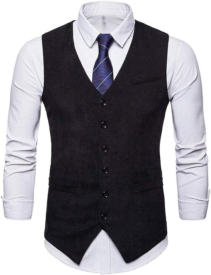 Amazon.com: MODOQO - Chaleco sin mangas para hombre: Clothing