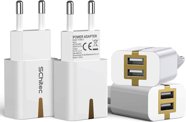 Schitec Usb Netzteil 4 Pack Usb Ladegerät Stecker 2 Elektronik
