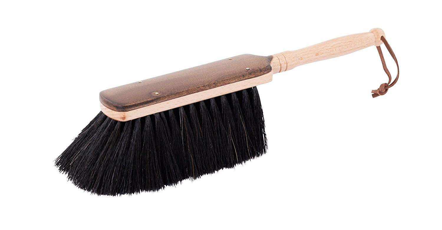 Redecker Hand Brush with Wooden Handle, Rice Straw, Oiled Beechwood, Set of 2, 17-Inches Bürstenhaus Redecker GmbH Germany 950772