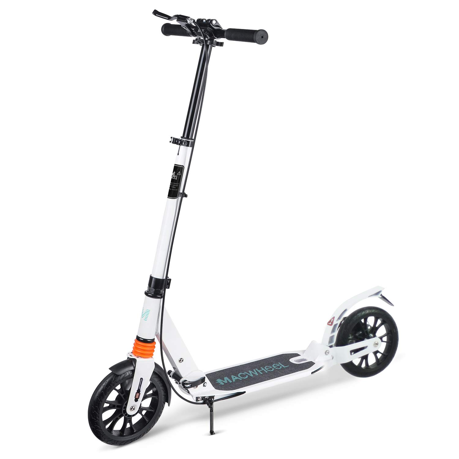 Macwheel Foldable Aluminum Height Adjustable Kick Scooter, Disc Brake | Rear Fender Brake | Dual Suspension | 8'' PU Wheels | Portable Kick Scooter Best for Teens and Adults (MK3) by Macwheel