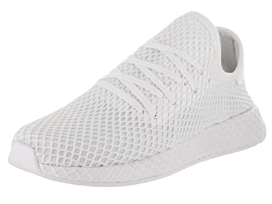 sports shoes 0f884 4177a adidas Mens Originals Deerupt Runner WhiteWhiteWhite Woven Size 7