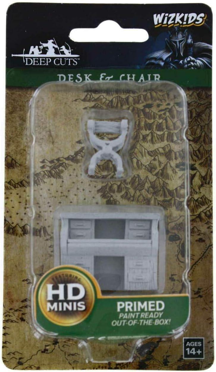 WizKids Deep Cuts Unpainted Miniatures Terrain: Wave 5: Desk & Chair