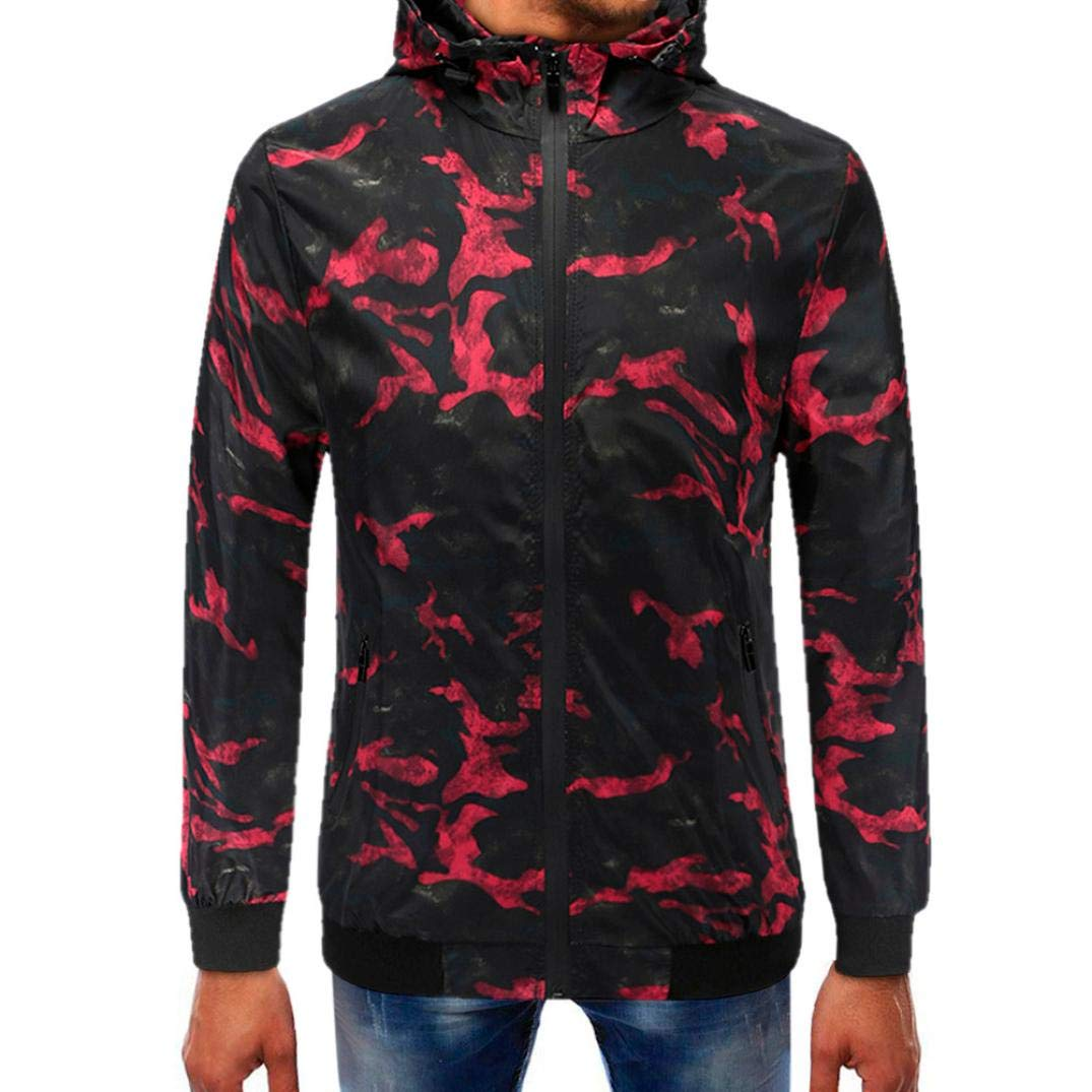 Corriee Men Hoodies Mens Autumn Stylish Camouflage Full Zipper Pullover Coat Casual Long Sleeve Hooded Tops for Men