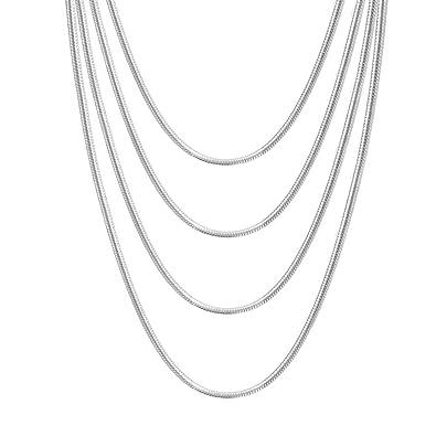 Amazon.com: Collar tipo cadena de serpiente redondo de acero ...