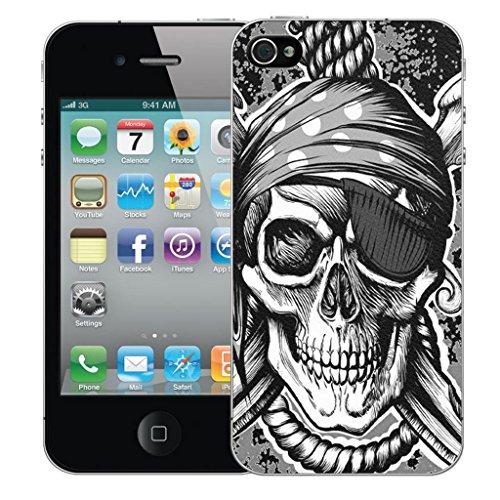 Mobile Case Mate iPhone 4 clip on Dur Coque couverture case cover Pare-chocs - noir hanging skull Motif