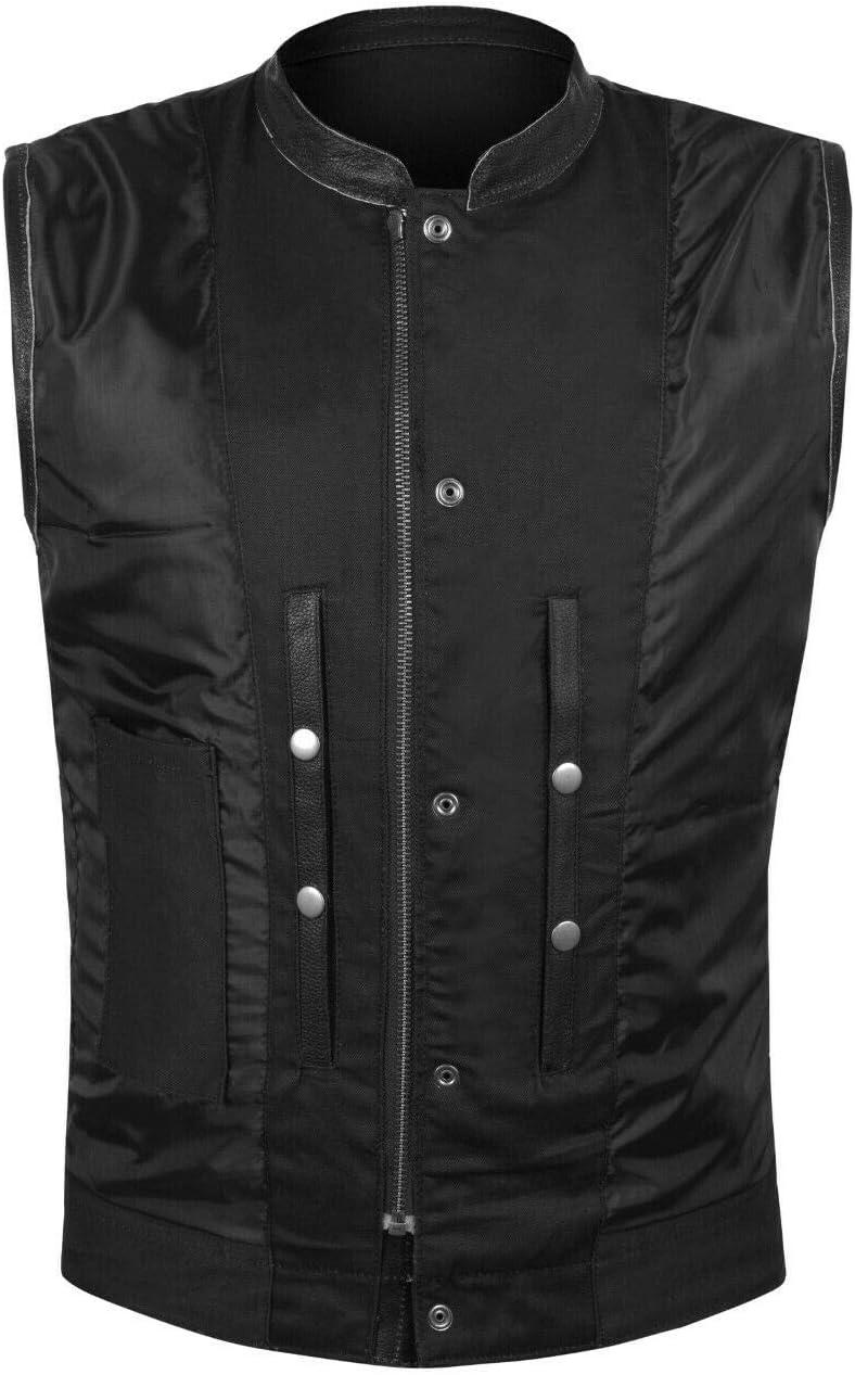 4X-LARGE 2Fit SOA Mens Leather Vest Anarchy Motorcycle Biker Club Prime Quality Vest