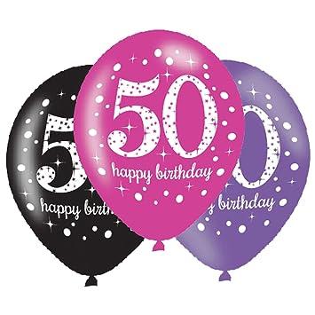 Amscan – 9900878 celebración de 11 pulgadas 50th feliz cumpleaños globos de látex