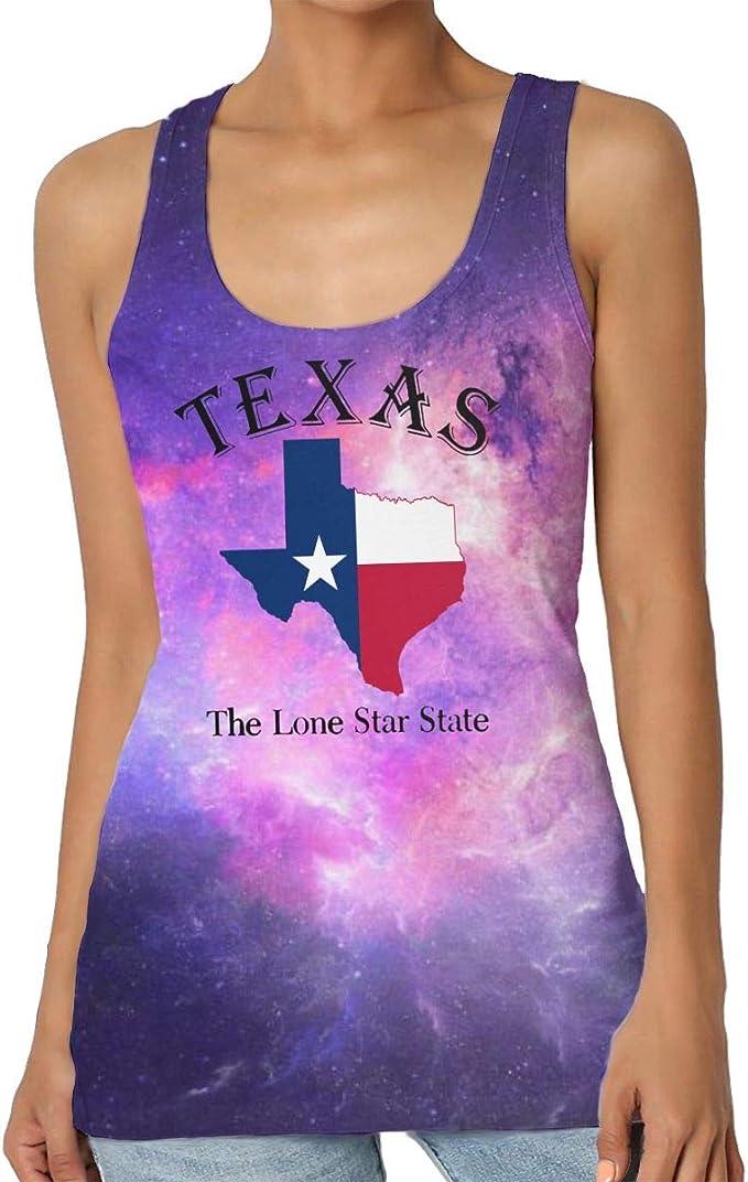 Texas Lone Star State - Camiseta sin Mangas para Mujer, Cuello Redondo, Camisa básica sin Mangas, Talla Grande Negro Negro (XL: Amazon.es: Ropa y accesorios