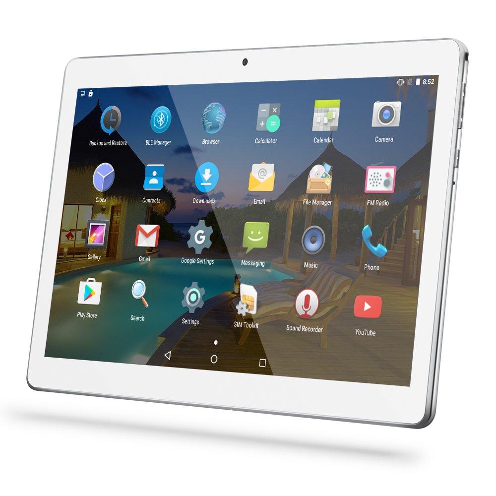 YUNTAB Tablette PC K107 10.1' Tablette Tactile Play Store( MT6580,A7Quad-Core, 1.3GHz ,3D-GSENSOR,1 Go de RAM,Disque Dur 16 Go, Android 5.1,IPS,WiFi,GPS,TF Carte jusqu'à 32 Go) Noir