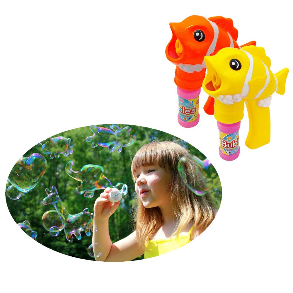 Cute Fish Children Bubble Toy Automatic Bubble Blower Machine Toy for Kids
