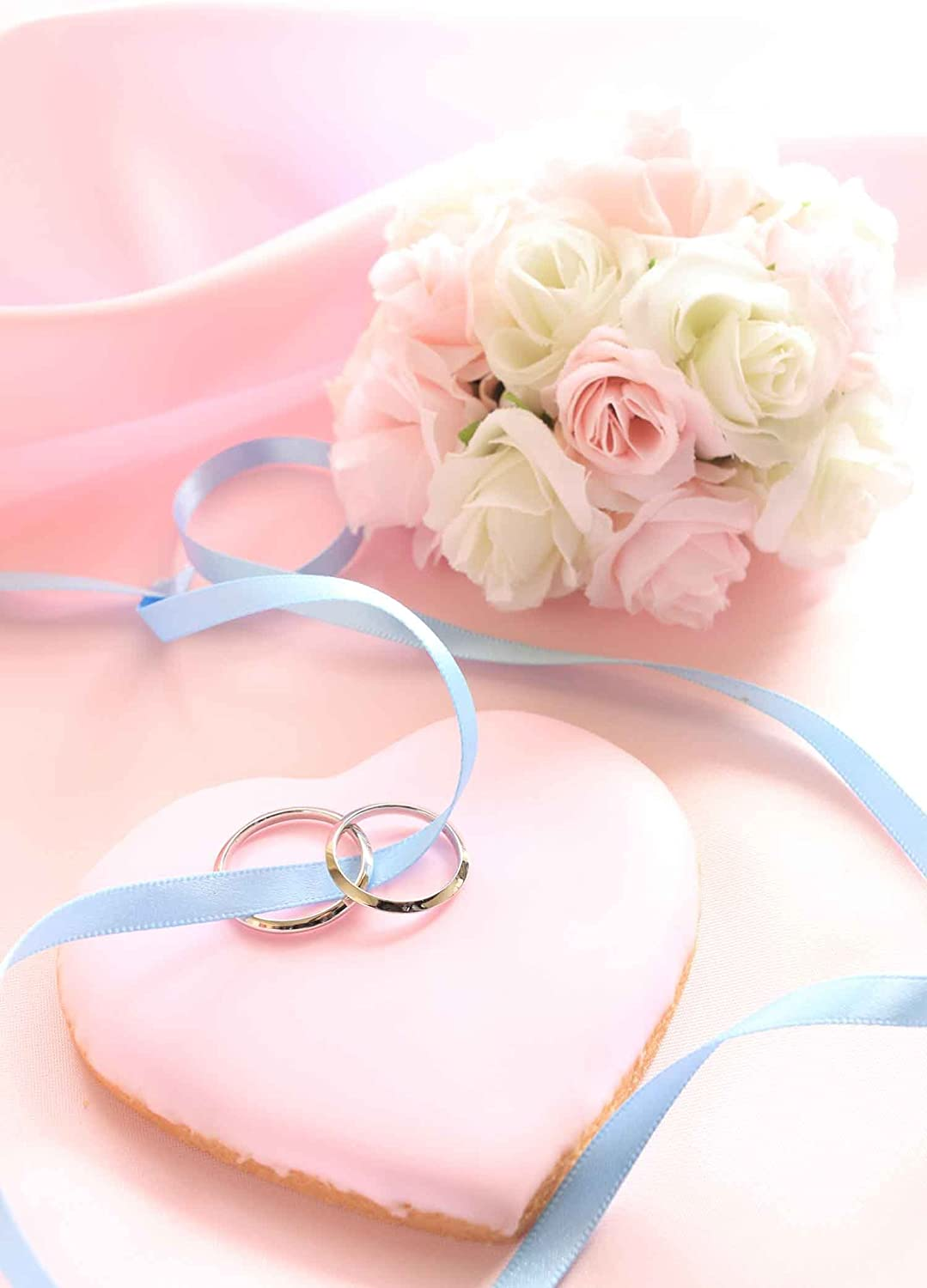 MME Pink Heart Shape Backdrop 5x7ft Upgrade Material Seamless Vinyl Background Photography Wedding Party Photo Studio Props GYMM262