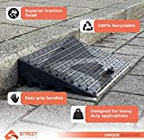 Rubber Curb Ramp 2 PC | Heavy Duty Portable