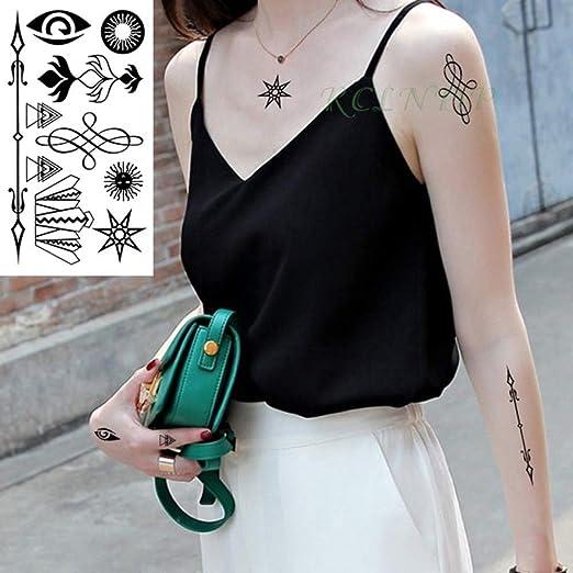 5pcs Impermeable Etiqueta engomada del Tatuaje en la Oreja Dedo ...