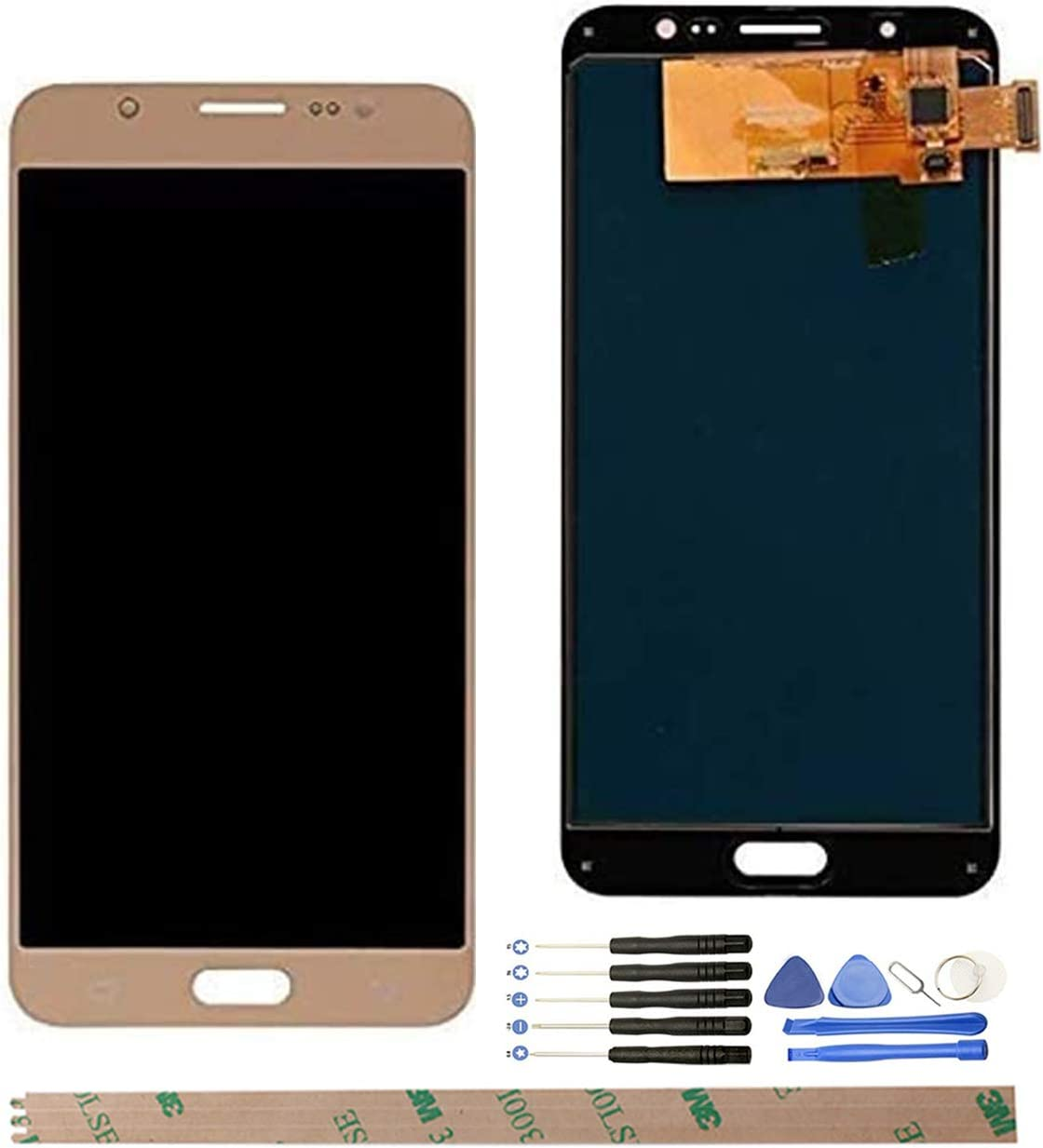 White A Set of Tools HYYT Replacement for Samsung Galaxy J7 Prime G610 On Nxt On7 Prime SM-G610M//DS 2016 5.5 LCD Display Touch Screen Digitizer Assembly