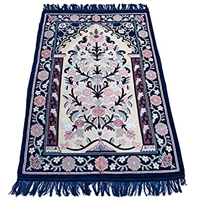 Sajda Rugs Prayer Rug Janamaz Sajadah Namaz Sajjadah Ramadan Eid Gifts Prayer Mat Made in Turkey (Blue) - Premium Quality Fabric - Prayer Rug Large Size. Imported Turkish Prayer Rug SIZE: Length: 48 Inches | Width: 30 Inches. - living-room-soft-furnishings, living-room, area-rugs - 61mIwEQNvuL. SS400  -