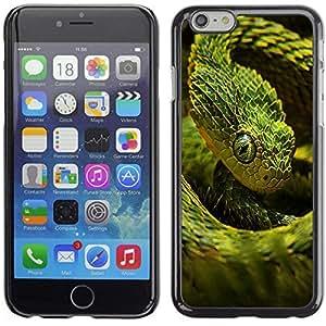 YOYO Slim PC / Aluminium Case Cover Armor Shell Portection //Cool Neon Green Snake //Apple Iphone 6 Plus 5.5