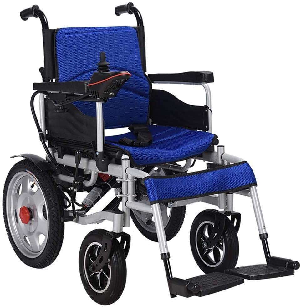 Silla de ruedas eléctrica, eléctrica plegable de la silla de ruedas eléctrica, Ideal for el aire libre o en interiores, Soporta hasta 265 libras, 17,7