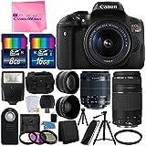 Canon EOS Rebel T6i 24.2MP Digital SLR Camera Bundle w/ Canon EF-S 18-55mm f/3.5-5.6 IS STM [Image Stabilizer] Zoom Lens & EF 75-300mm f/4-5.6 III Telephoto Zoom Lens & Camera Works BUNDLE