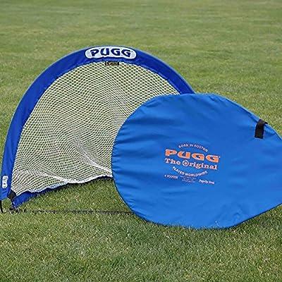 PUGG 4 Foot Pop Up Soccer Goal - Portable Training Futsal Football Net - The Original Pickup Game Goal (Two Goals & Bag)