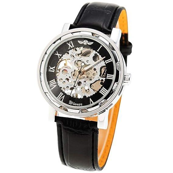 Winner - Reloj de Pulsera mecánico automático con Fecha para Hombre: Amazon.es: Relojes