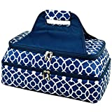 Picnic at Ascot – Two Layer – Hot/Cold Thermal Food and Casserole Carrier (Trellis Blue)