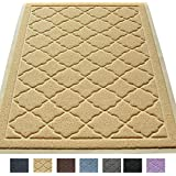 """Easyology Extra Large 35"""" x 23"""" Cat Litter Mat, Traps Messes, Easy Clean, Durable, Non Toxic - BEIGE"""