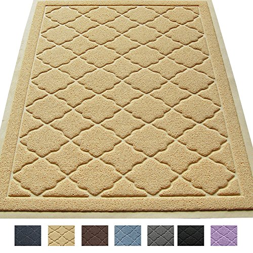 Easyology Extra Large 35″ x 23″ Cat Litter Mat, Traps Messes, Easy Clean, Durable, Non Toxic – BEIGE