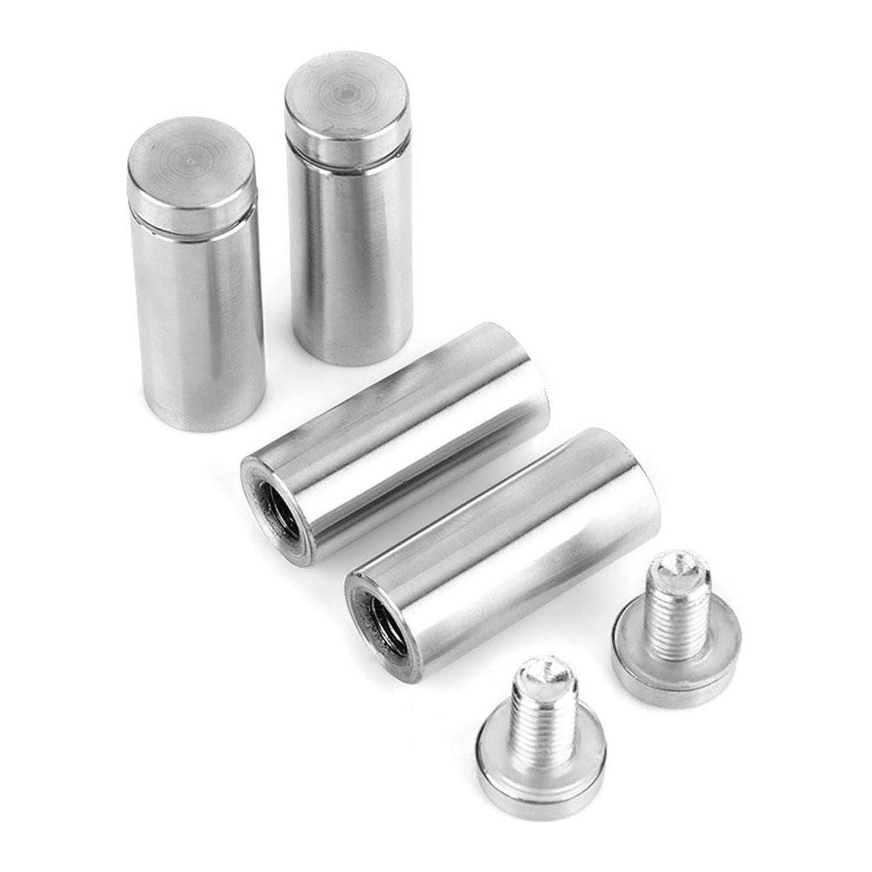 Distanziatore in vetro per pubblicit/à cava perni in acciaio inossidabile per fissaggio per insegna del negozio 19 * 50mm