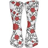 Ankle Support 30CM Low Cut Socks Flower Print Ankle Compression Socks Foot Sleeve Athletic Quarter Socks