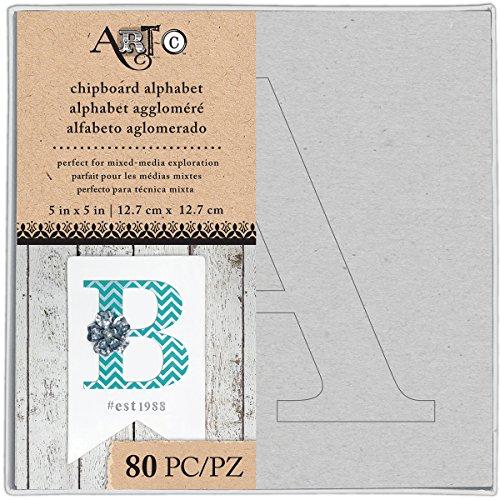 - Art-C Uppercase Stencil Chipboard Alphabet Box
