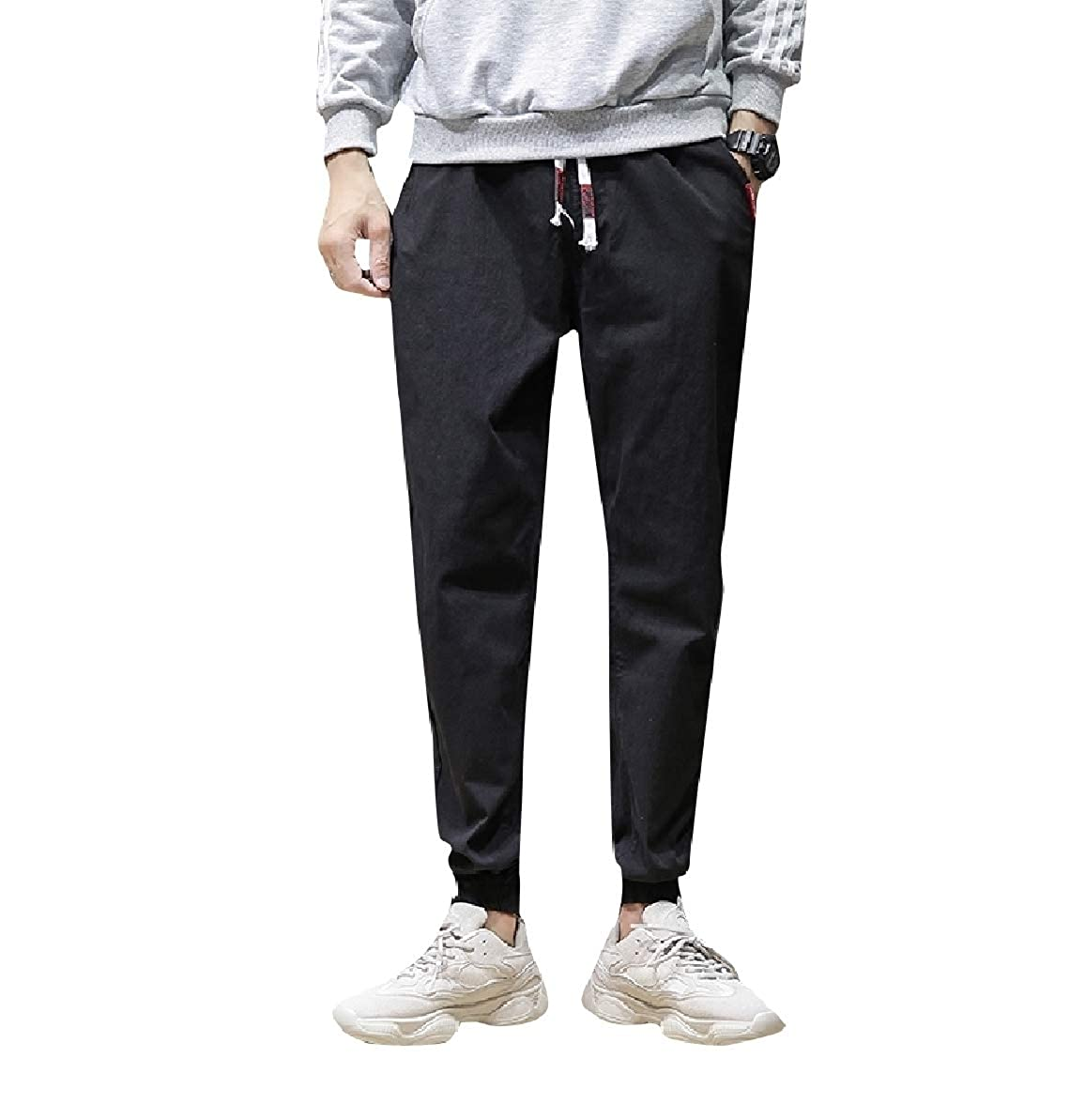 Zimaes-Men Oversize Big Pockets Winter Juniors Chino Pants Trousers
