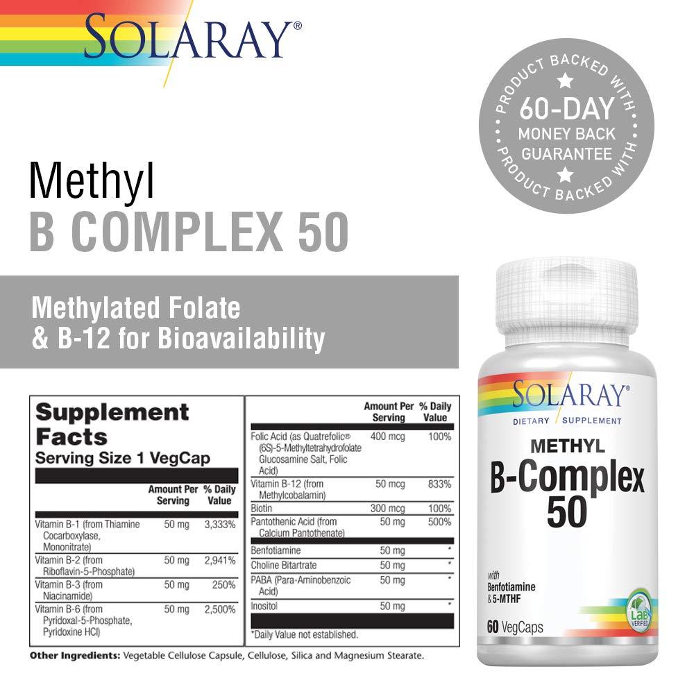 Coenzyme B-Complex 50 Solaray 60 VCaps: Amazon.es: Salud y cuidado personal
